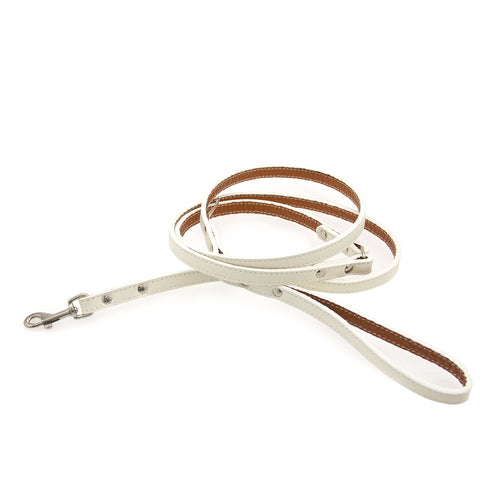 Tuscan Leather Dog Leash by Auburn Leather - White