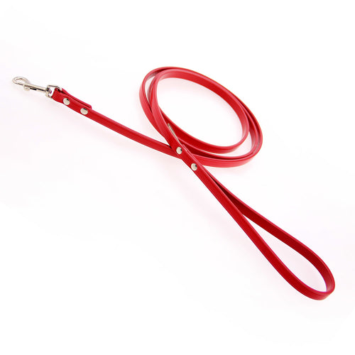 Town Leather Dog Leash by Auburn Leather - Red