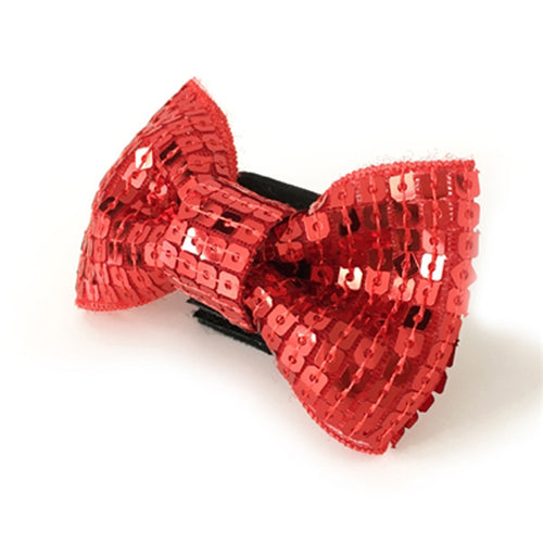 EasyBOW Sequins Dog Collar Attachment by Dogo - Red