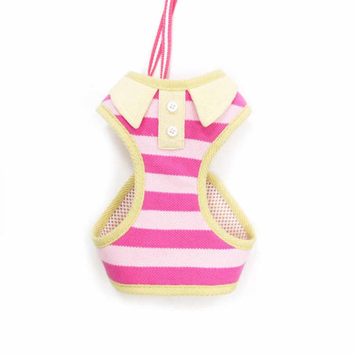 EasyGo Polo Stripe Dog Harness by Dogo - Pink
