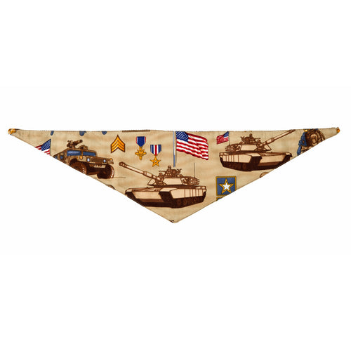 Patriotic Pet Line Dog Bandana by Push Pushi - U.S. Army