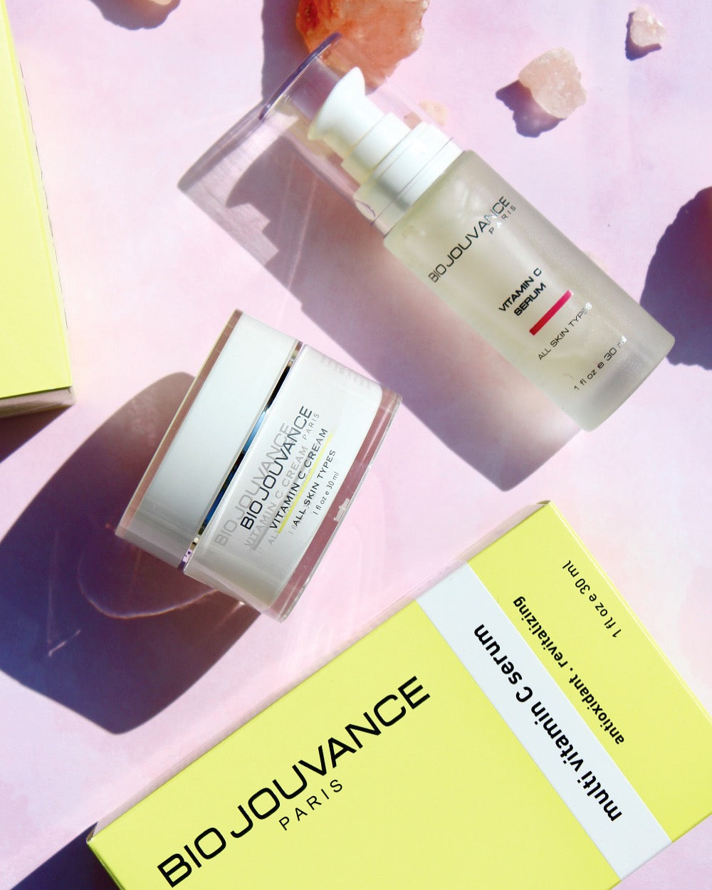 Bio Jouvance Paris Vitamin C Serum and Vitamin C Cream