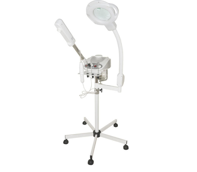 Aromatherapy Ozone Facial Steamer And 5 Diopter Magnifying Lamp And High Frequency