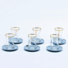 Porcelain drip tea set, 6pc
