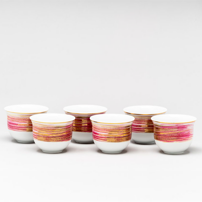 Flow coffee cups, 6pc