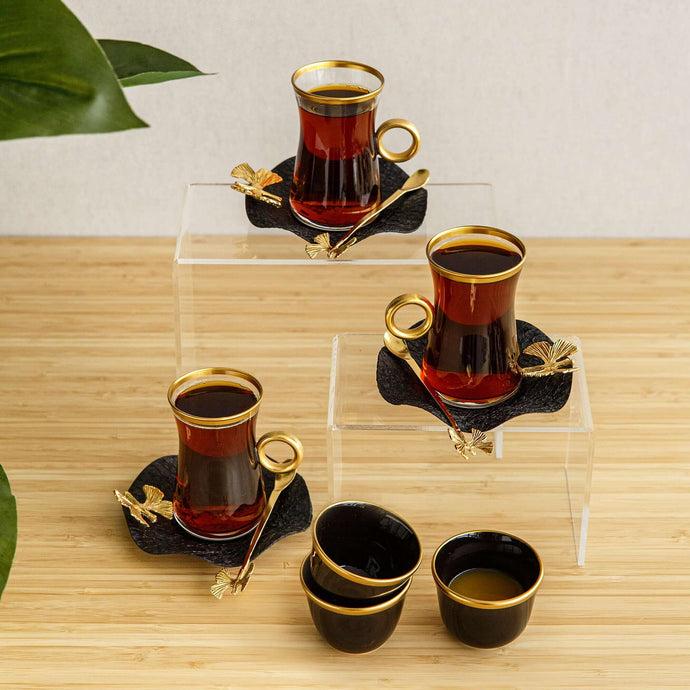 Butterfly Tea & Coffee with spoons set, 6pcs