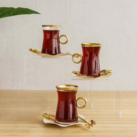 Butterfly Tea set with spoons, 6pcs