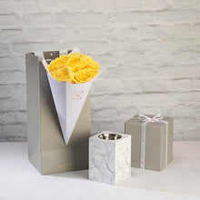 Marble Mobkhar with yellow roses