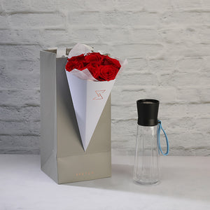 Grand Cru Bottle with Roses