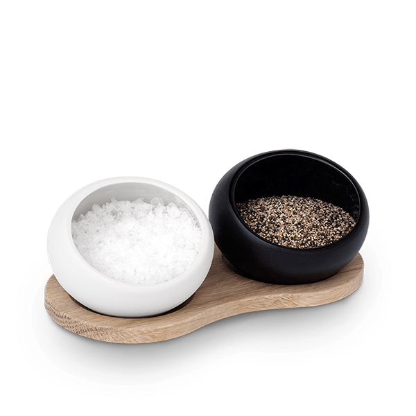 Salt & Pepper Cellar with holder