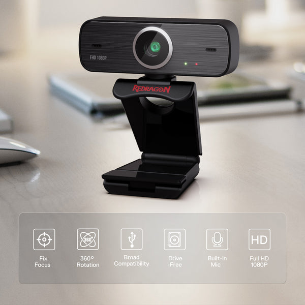 Redragon 1080P  Webcam GW800 Review