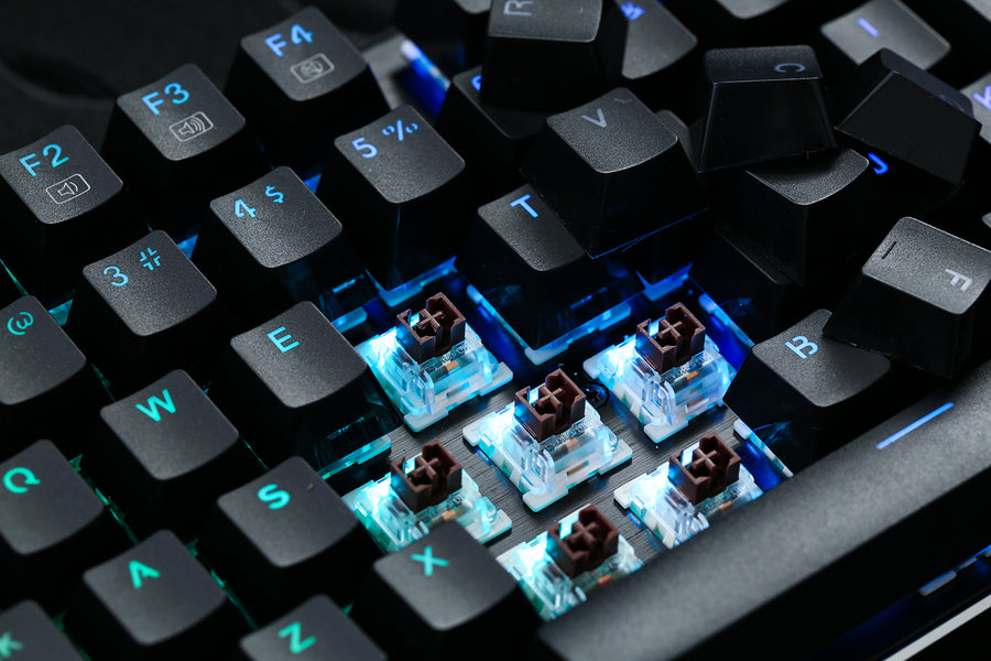 What mechanical keyboard switches should I get: red, blue, brown or black?