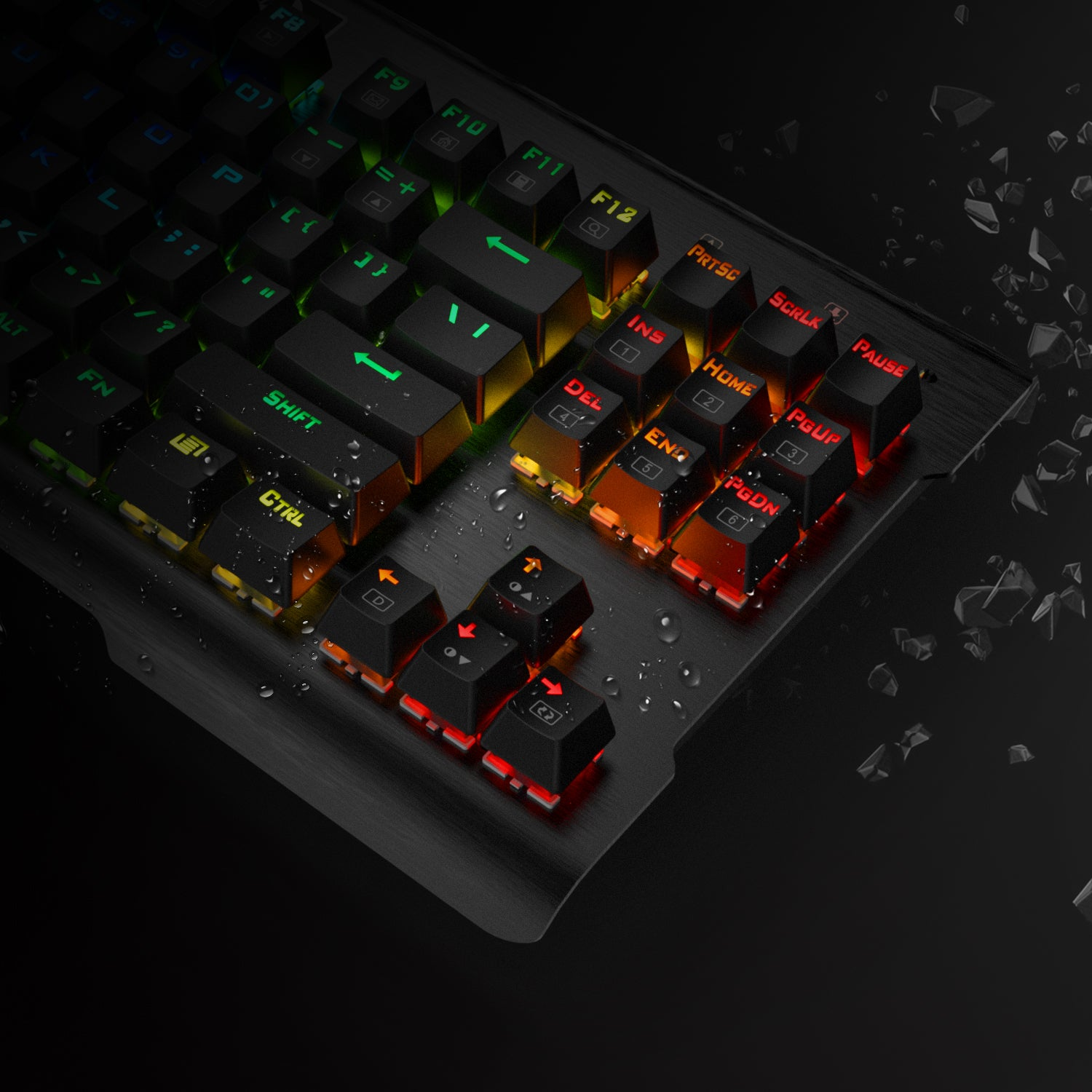 Redragon K561 VISNU Mechanical Gaming Keyboard, Anti-ghosting 87 Keys, RGB Backlit, Wired Compact Keyboard with Clicky Blue Switches for Laptop, Windows