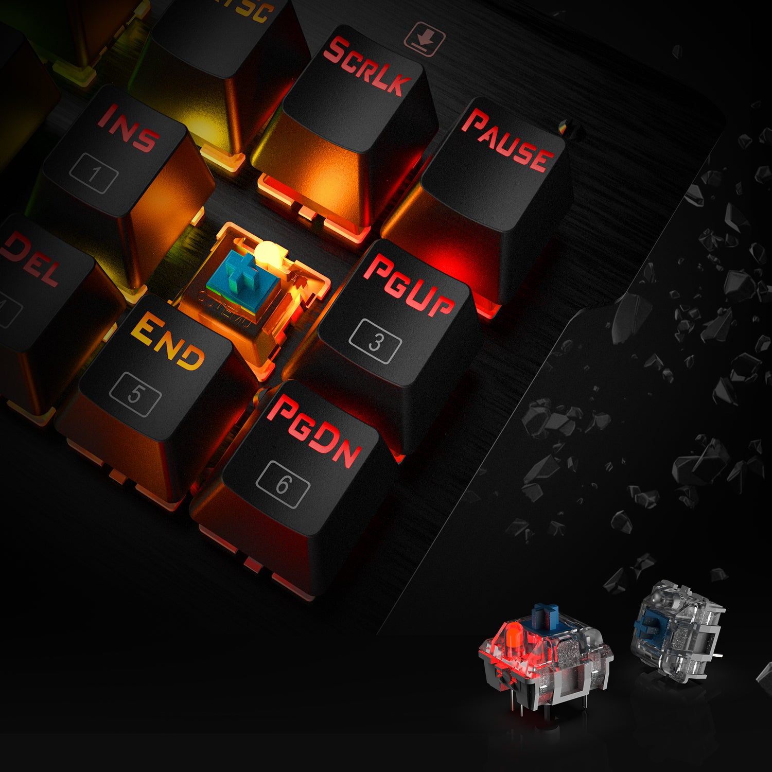 Redragon K561 VISNU Mechanical Gaming Keyboard, Anti-ghosting 87 Keys, RGB Backlit, Wired Compact Keyboard with Clicky Blue Switches