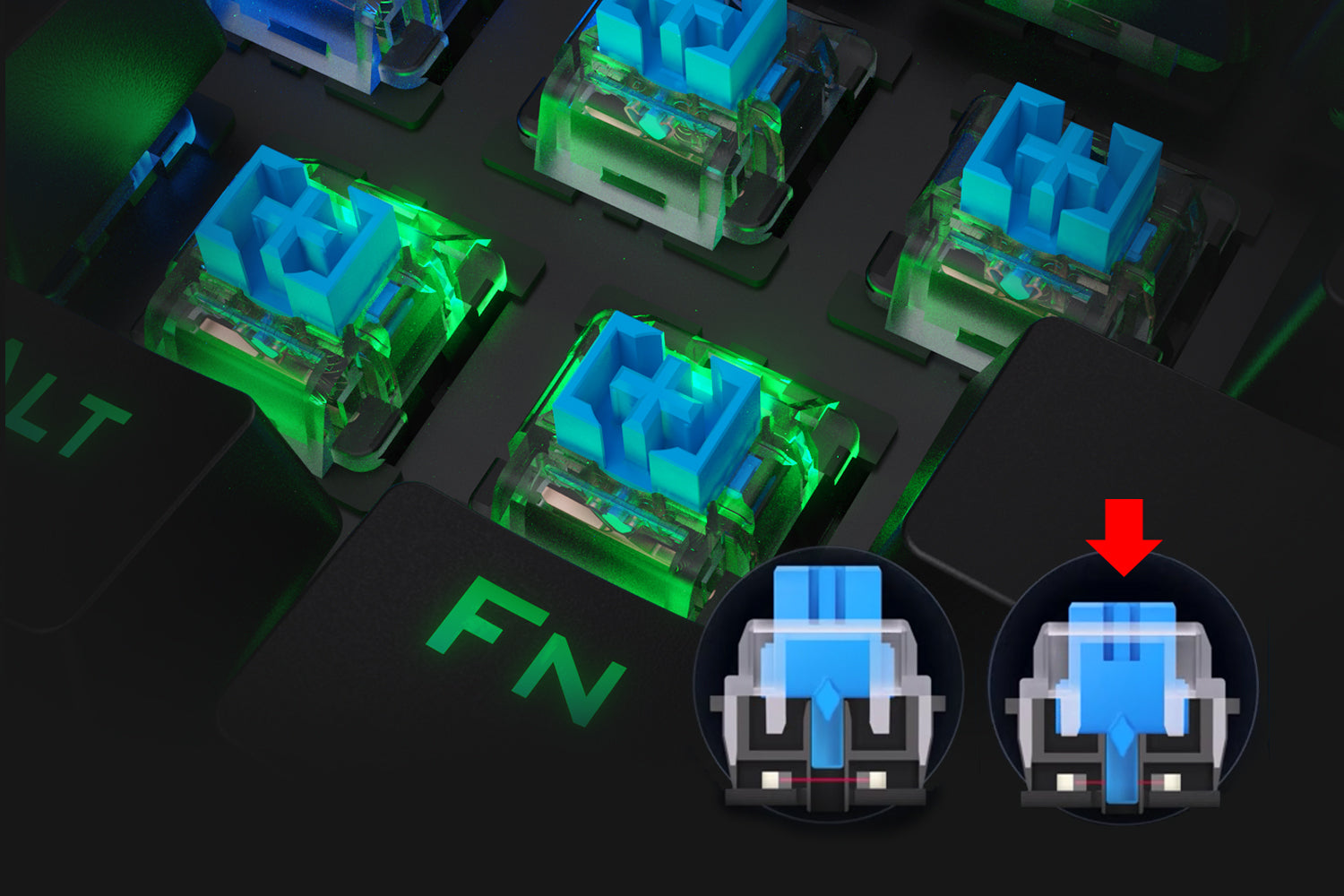 redragon optical blue switches