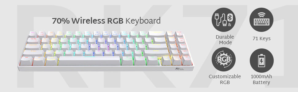70% RGB Wireless Mechanical Gaming Keyboard
