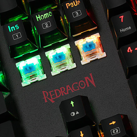 Redragon K557 RGB Backlit Waterproof Mechanical Gaming Keyboard with Blue Switches Anti-ghosting 104 Keys