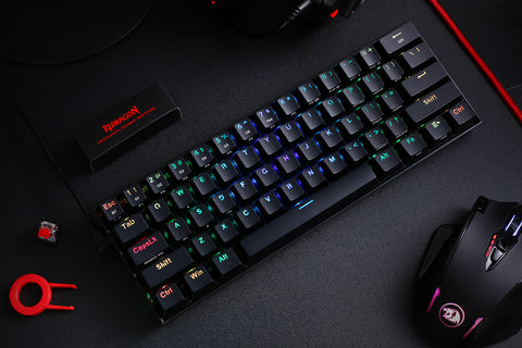Redragon K530 (Hot-Swappable OUTEMU Brown Switches): Bluetooth RGB 60% Keyboard, with USB-A to Angled USB-C cable