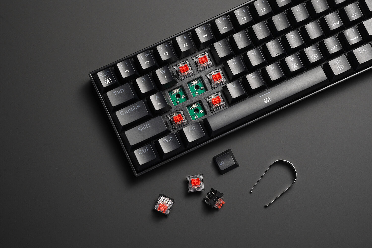 61 Keys Compact Mechanical Keyboard with red Switch