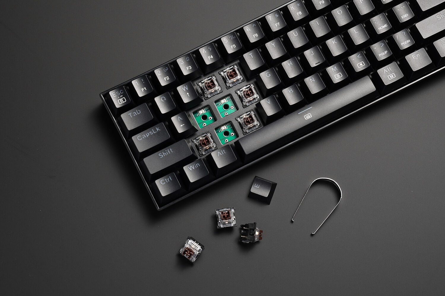 61 Keys RGB Mechanical Keyboard with Tactile brown Switch