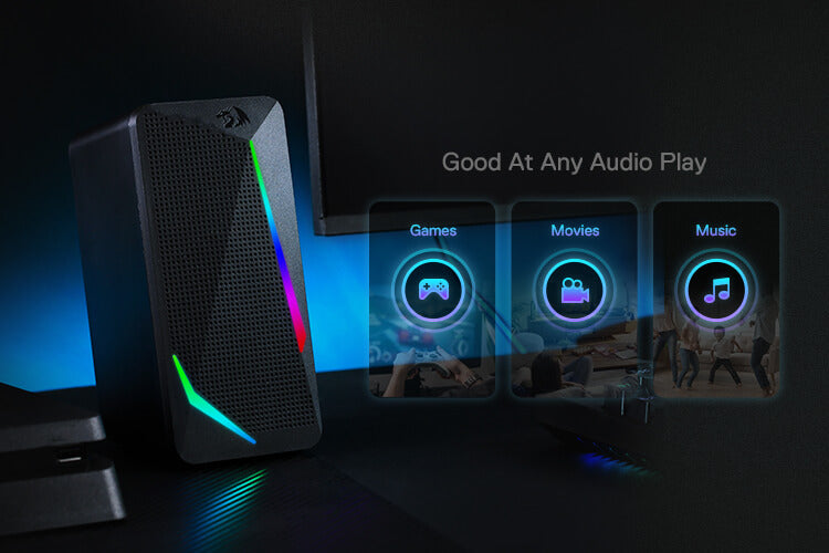redragon rgb 2.0 Channel PC Computer Stereo gaming Speakers