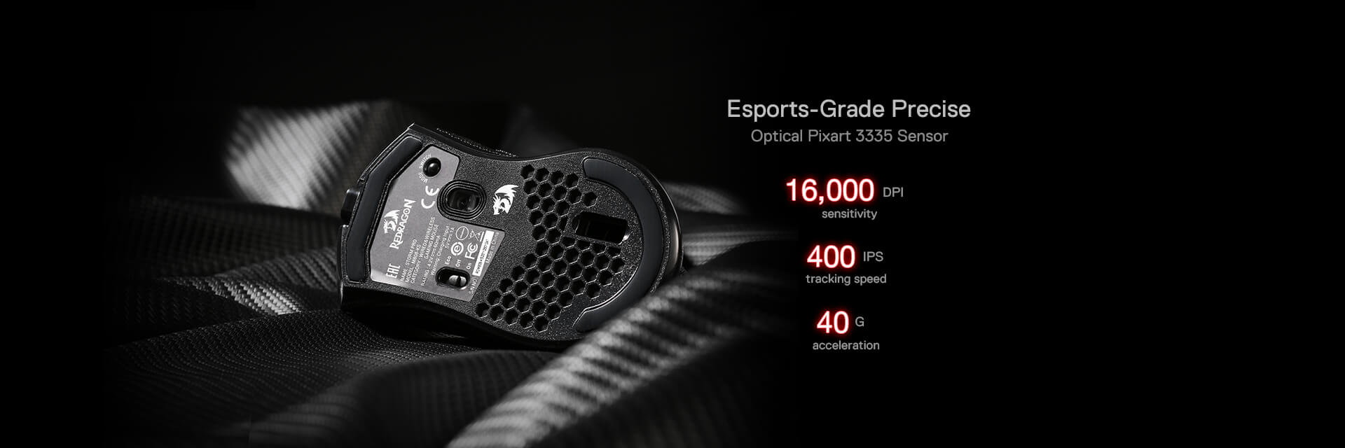 Redragon M808 Storm Pro RGB Wireless Gaming Mouse