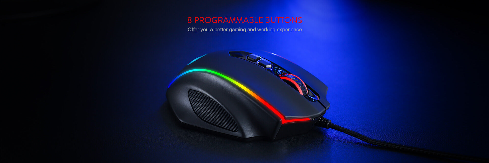 Redragon M720 Vampire RGB Gaming Mouse (Open-box)