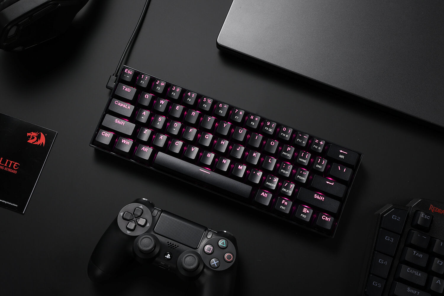 cheap 60% mechanical keyboard pink led backlit