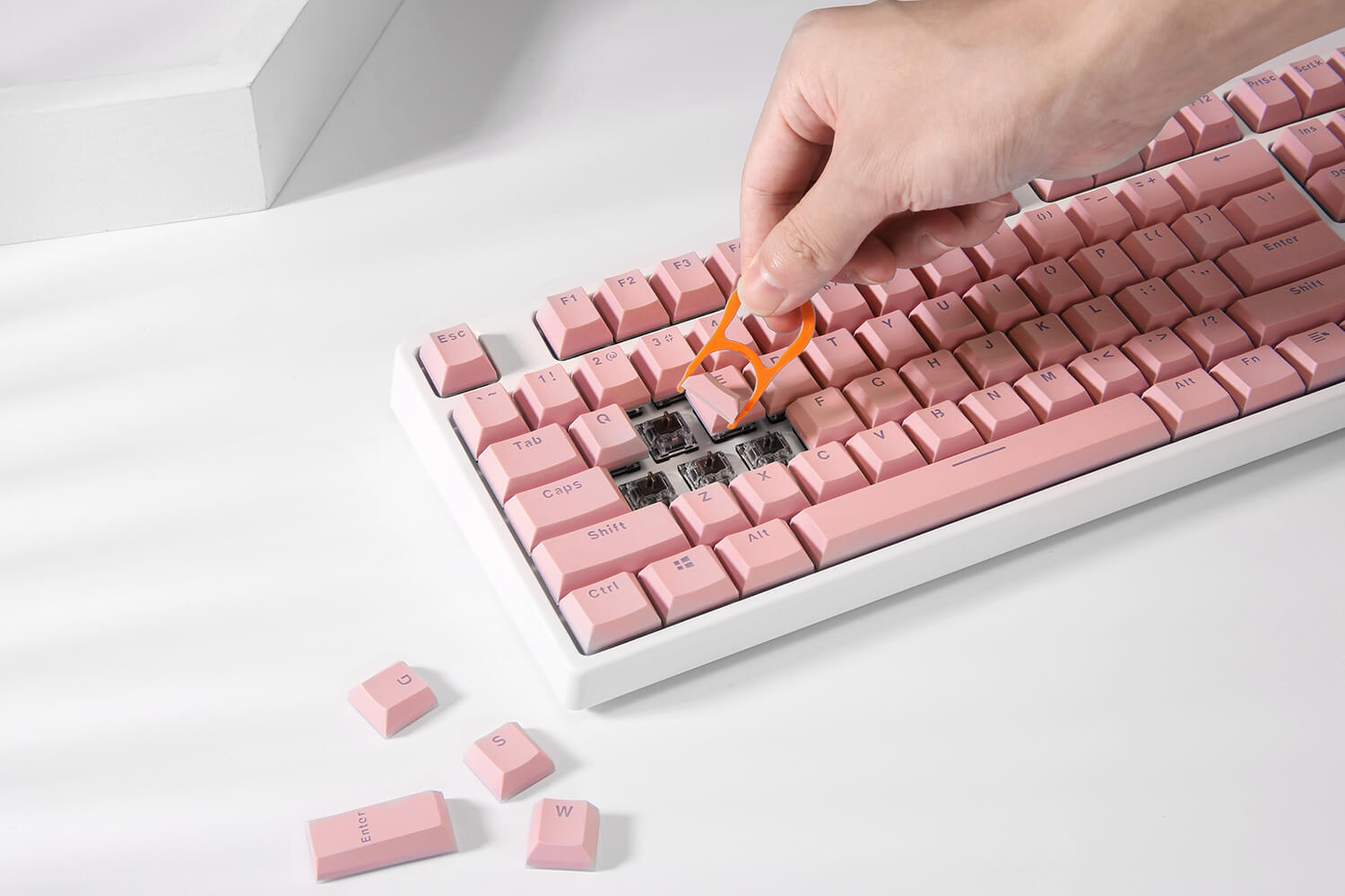 Pink Double Shot Keycaps for Mechanical Keyboard