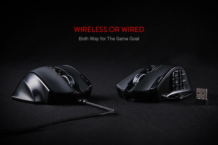 redragon wireless mmo mouse