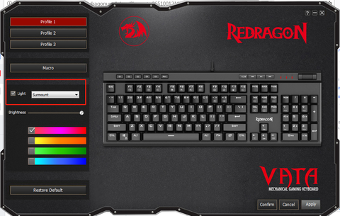 redragon keyboard how to set macro