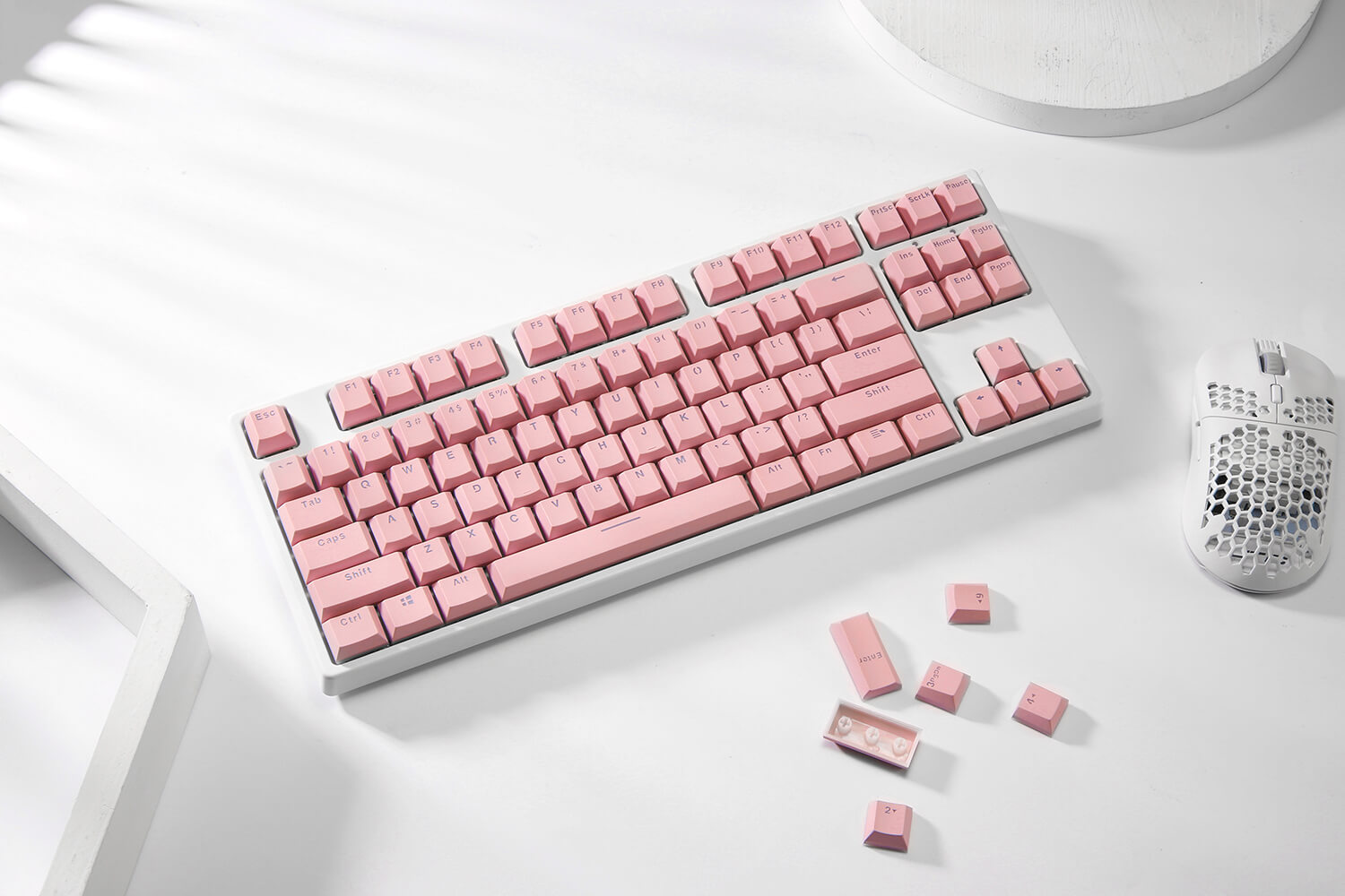 Double Shot PBT 104 Keycaps Set with Translucent Layer