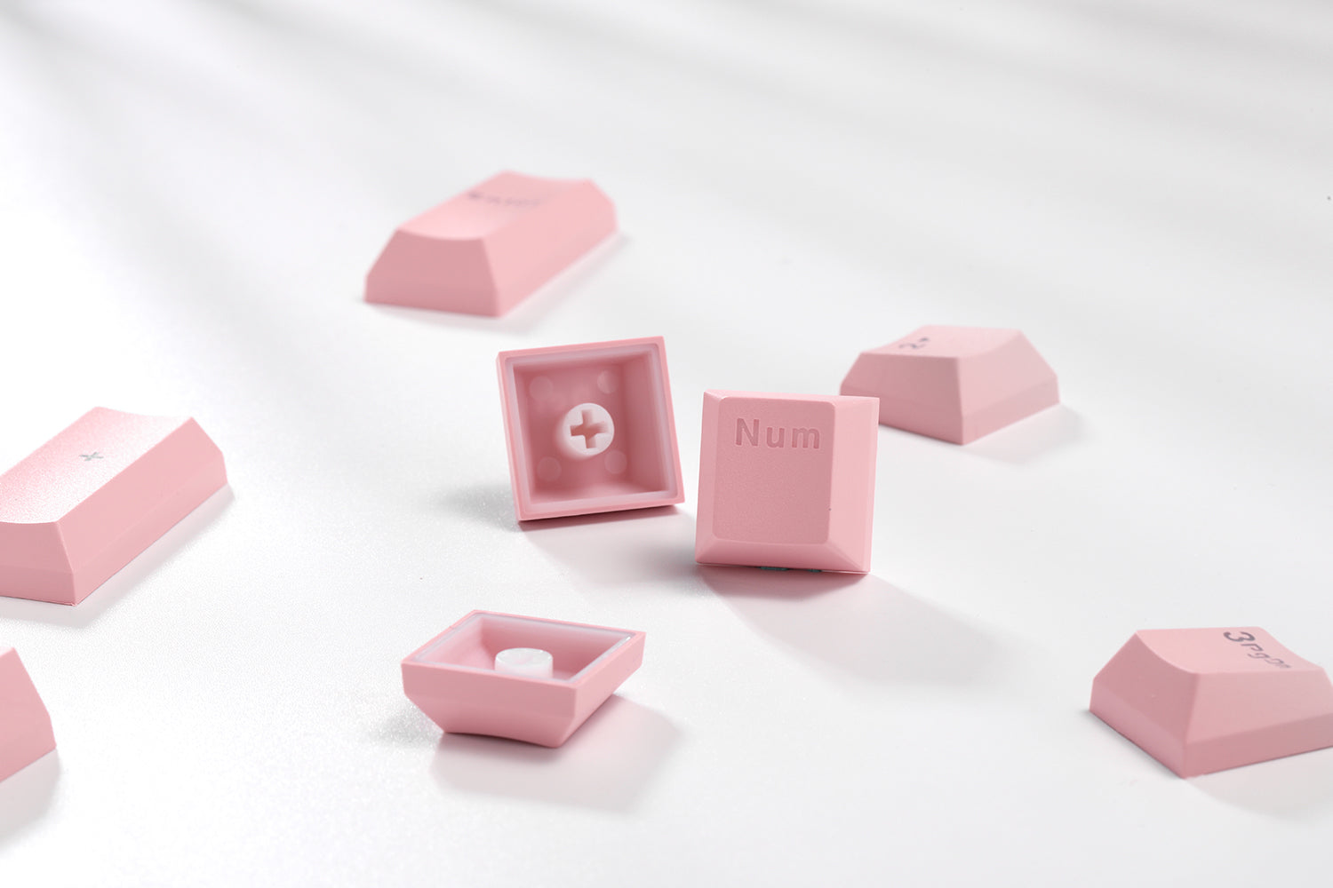 Double Shot Keycaps for Mechanical Keyboard - Macaron Pink