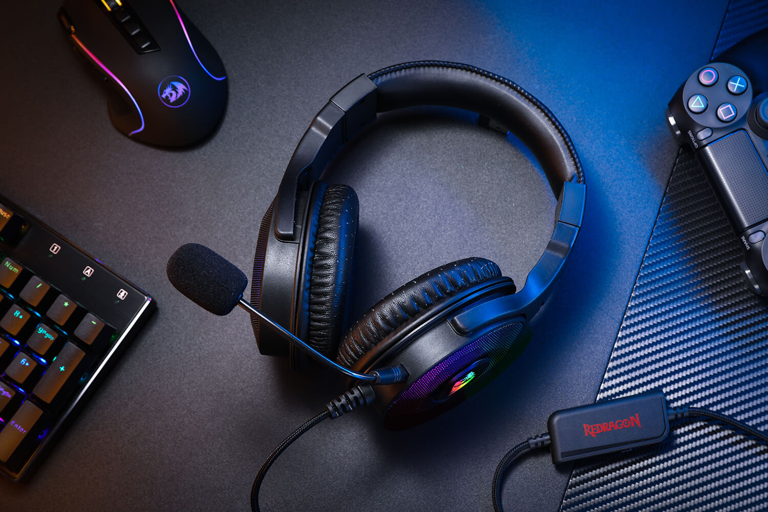 redragon Gaming Headset with Detachable Clear Mic