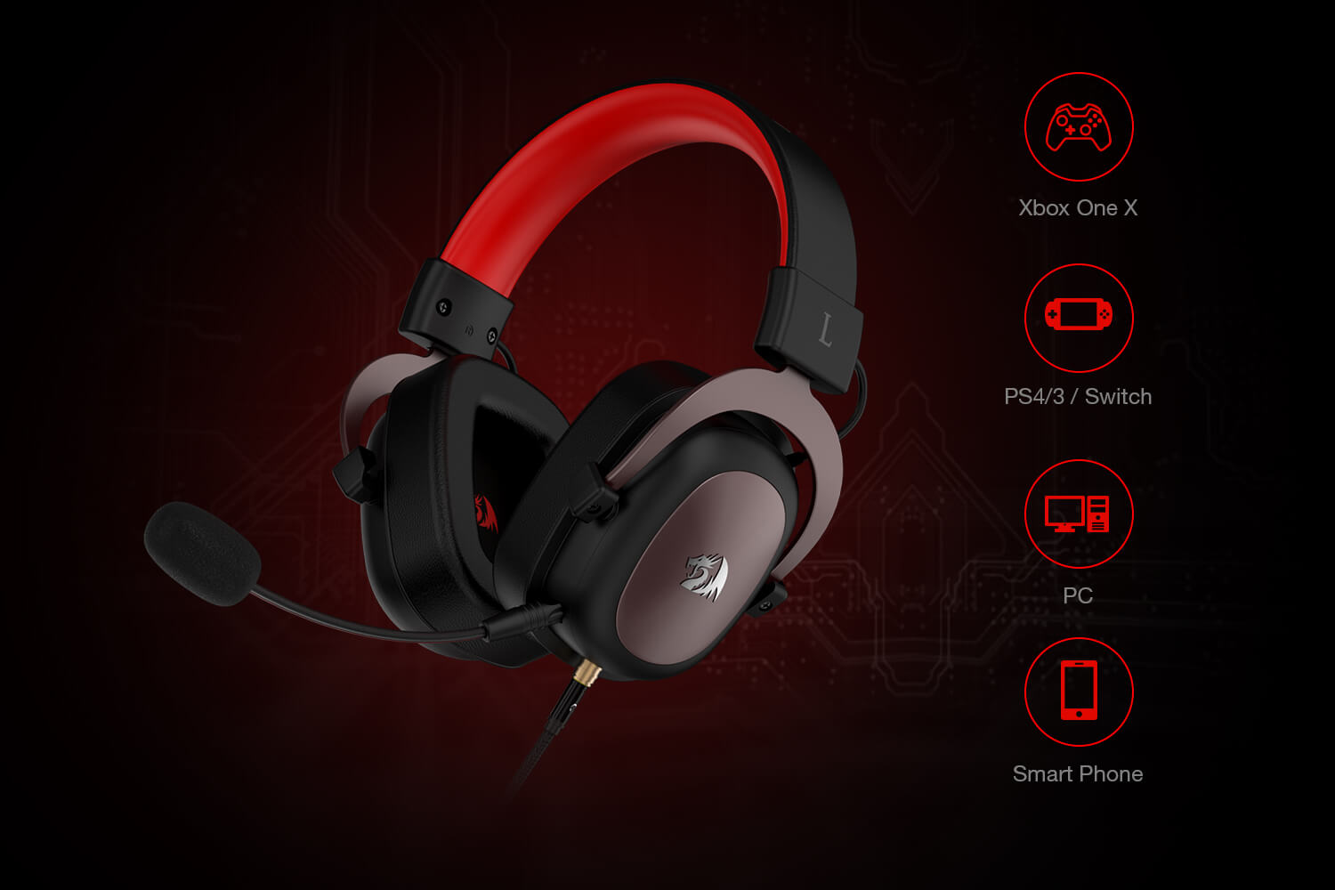 headset redragon zeus h510 gaming (Open-box)