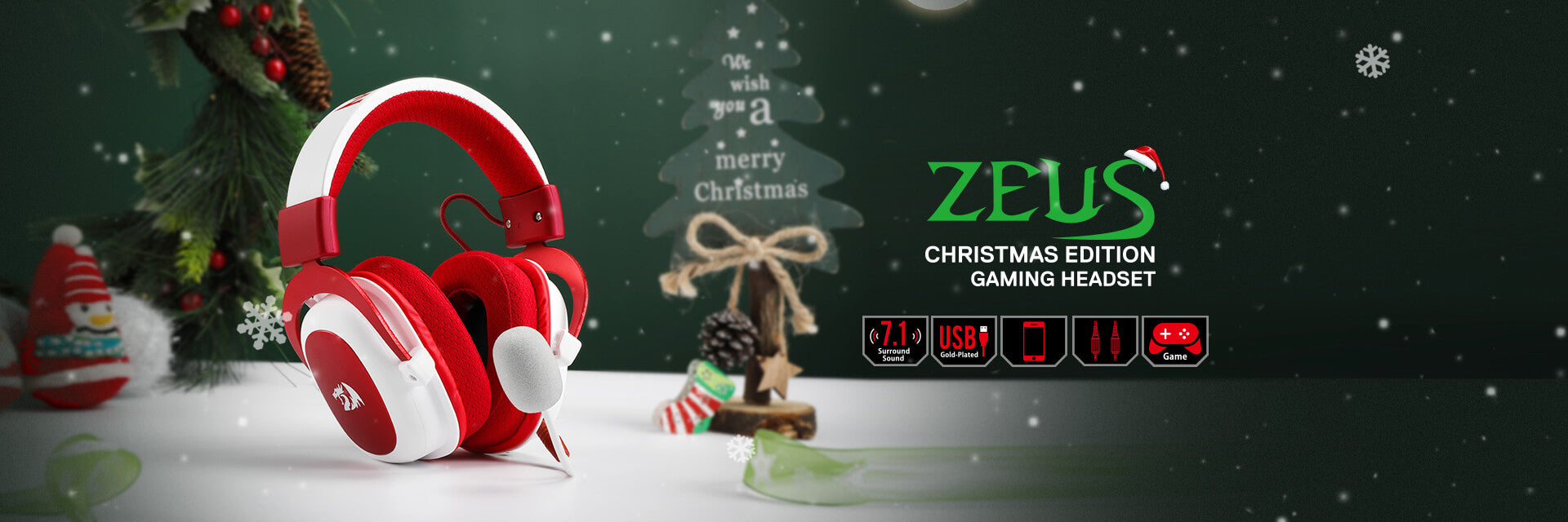 Redragon H510 Zeus Xmas Wired Gaming Headset