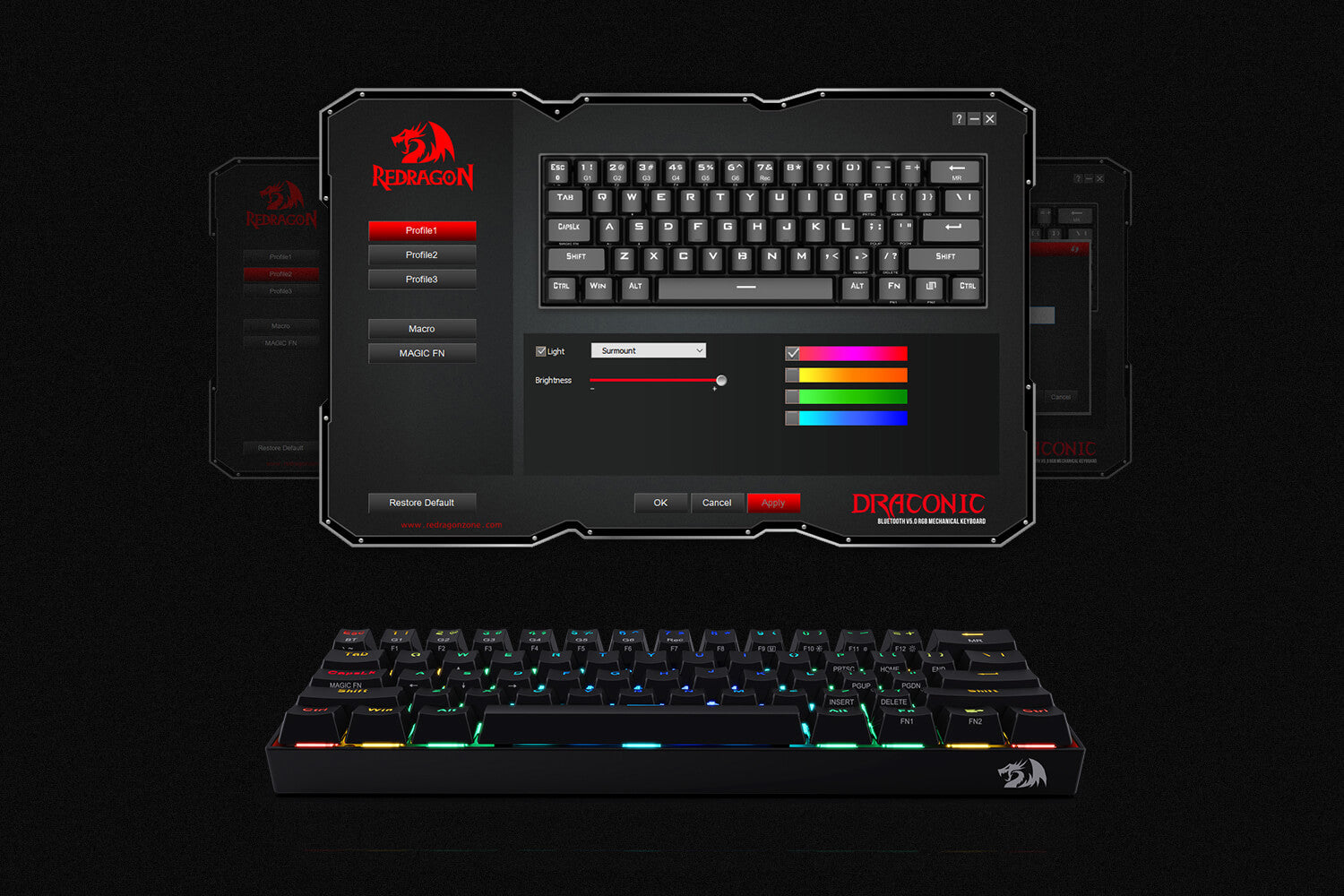 redragon 60% keyboard software