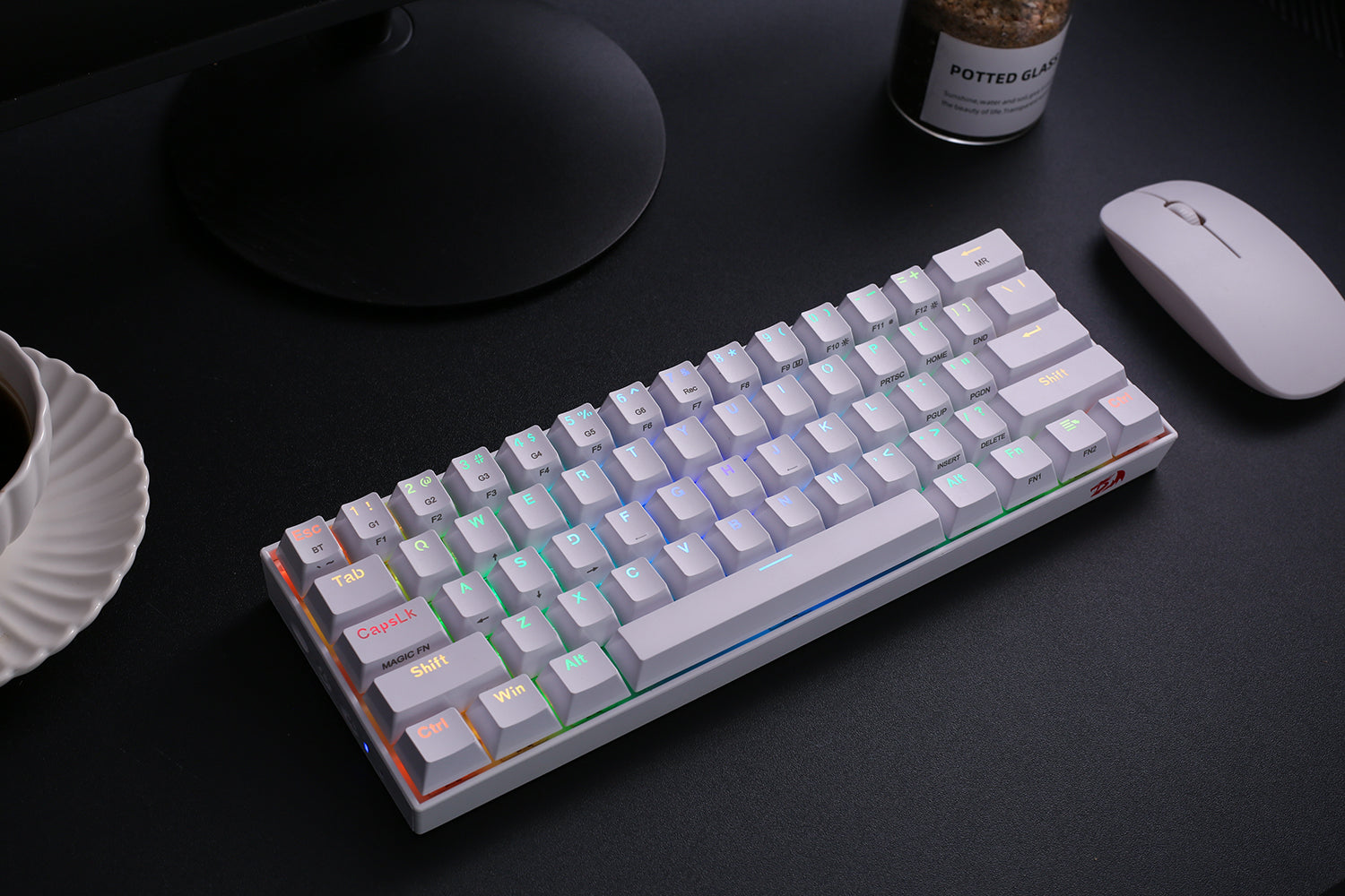 redragon 60% keyboard white