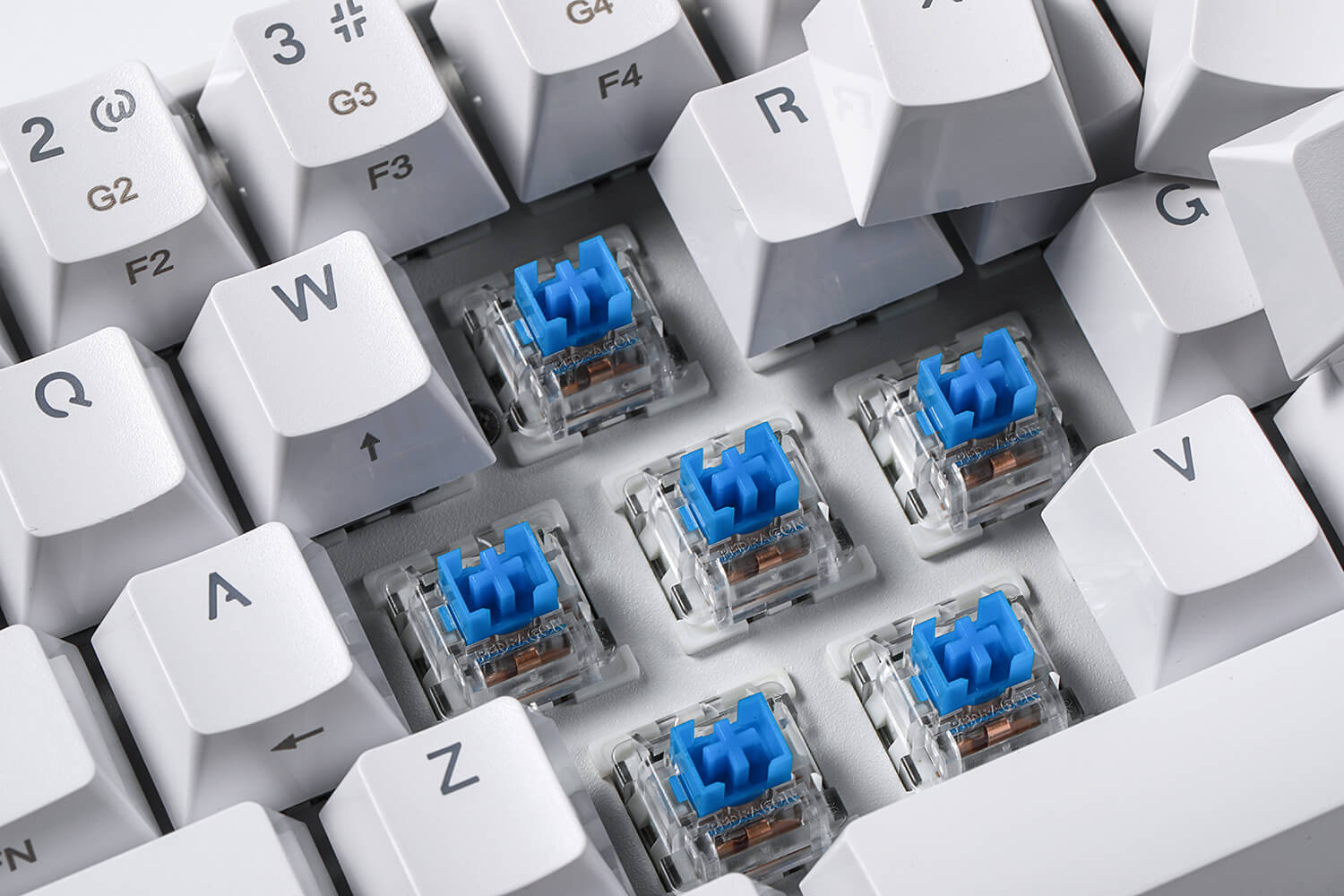 60% keyboard layout blue switches