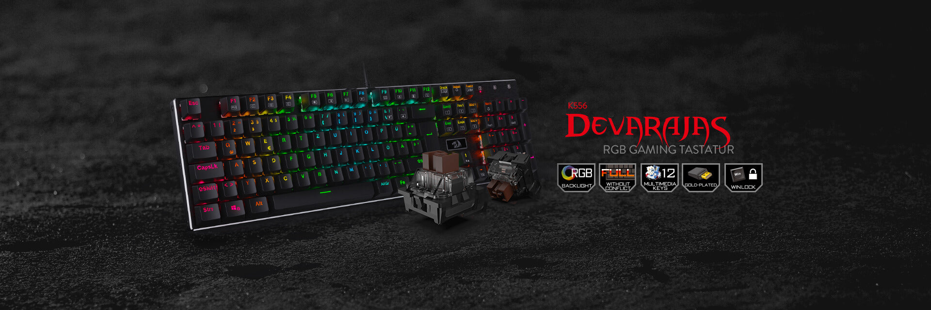 Redragon K556-DE Mechanische Gaming Tastatur
