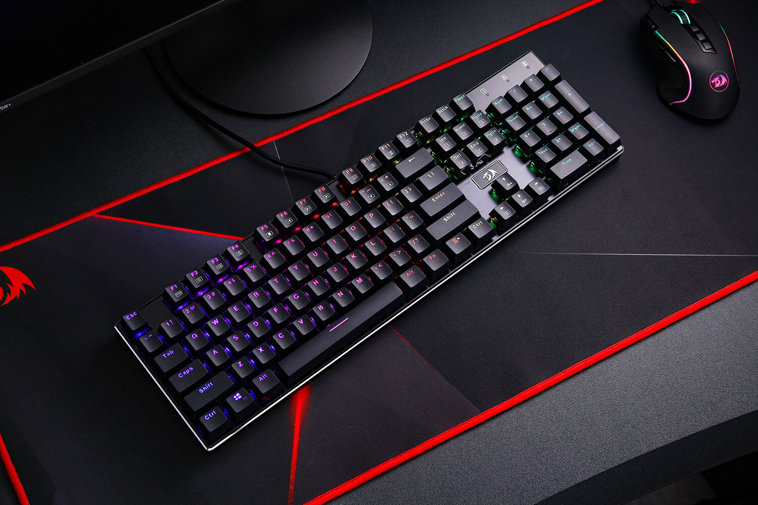 redragon k556 keyboard with red switches