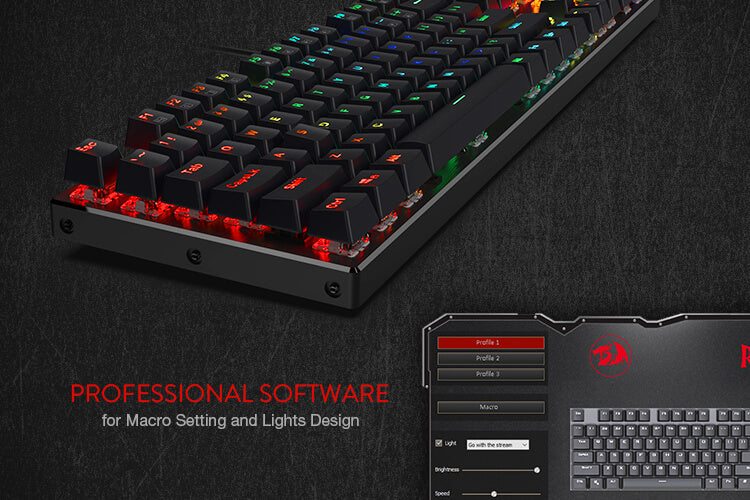 redragon gaming keyboard k556 software