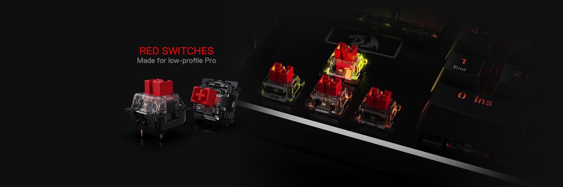 redragon k556 red switches gaming keyboard