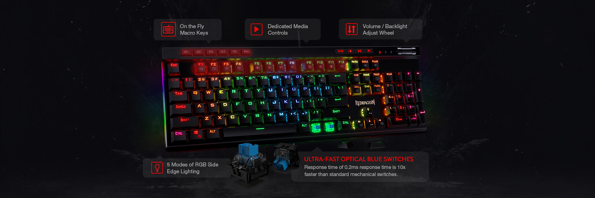 redragon k580 pro optical keybaord