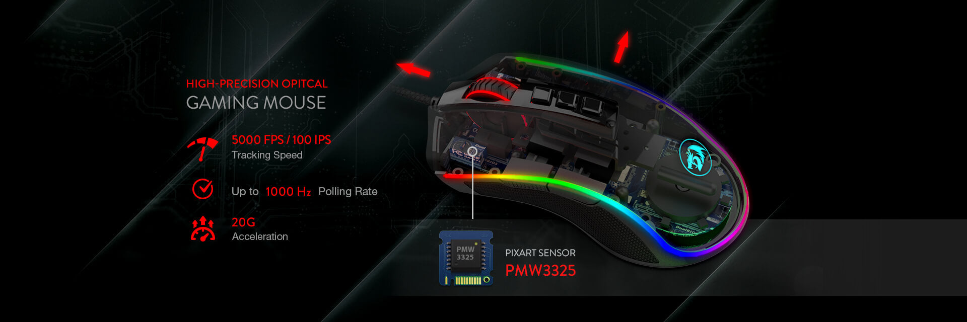 redragon m711 gaming mouse