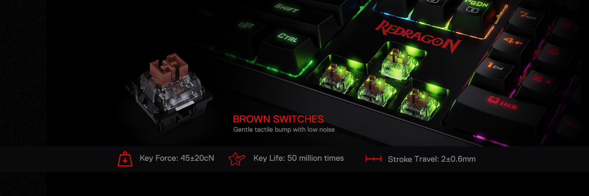 redragon k582 brown switches
