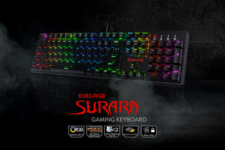 redragon k582 surara gaming keyboard with blue switches