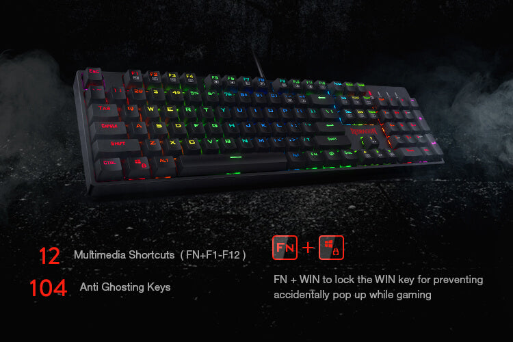 redragon k582 surara red switches