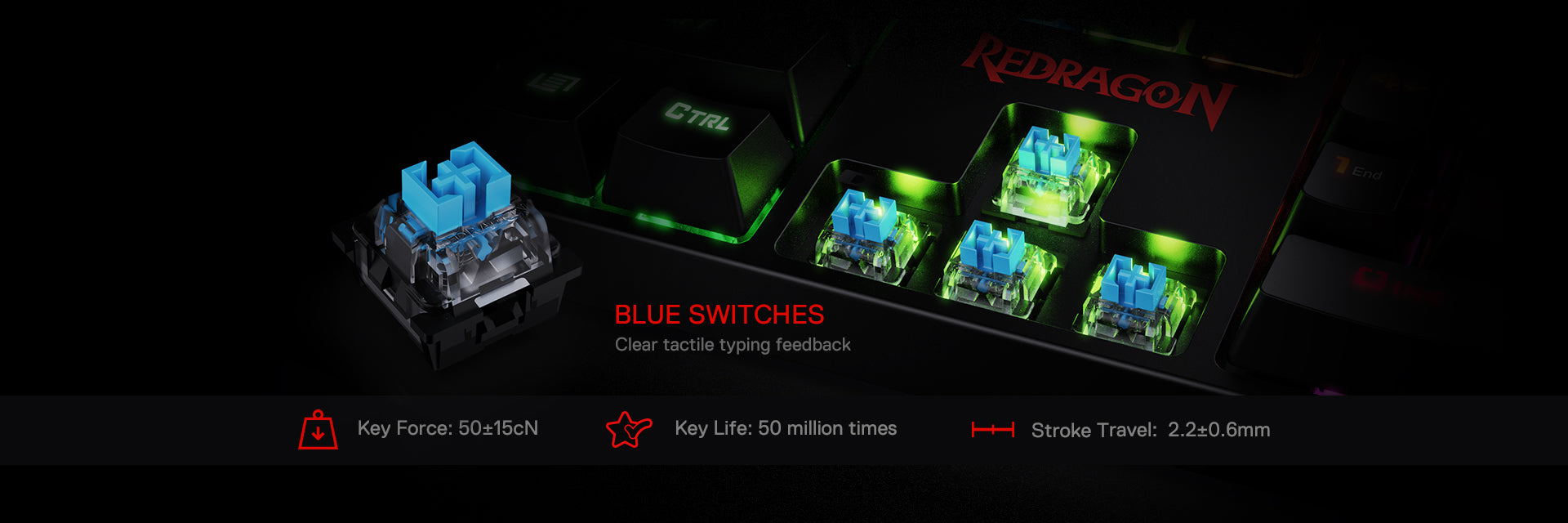 redragon k582 blue switches