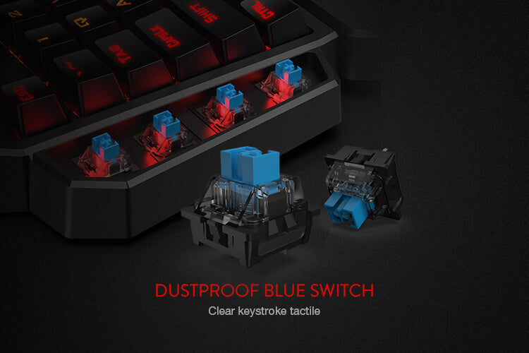 redragon k585 diti keypad with blue switches